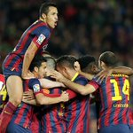 Team celebration against Athletic Club just now @barcastuff http://t.co/laW4JODJrV