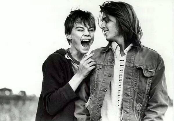 Rare pic of Leonardo DiCaprio and Johnny Depp: http://t.co/XCwVaA75Wj
