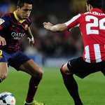 Picture: Alexis in the game against Athletic Bilbao http://t.co/OUni7SINx0 [via @barcelonka_1899]