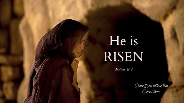 #HeHasRisen ... Share if you believe that Christ lives. http://t.co/pAbIHN7ys7