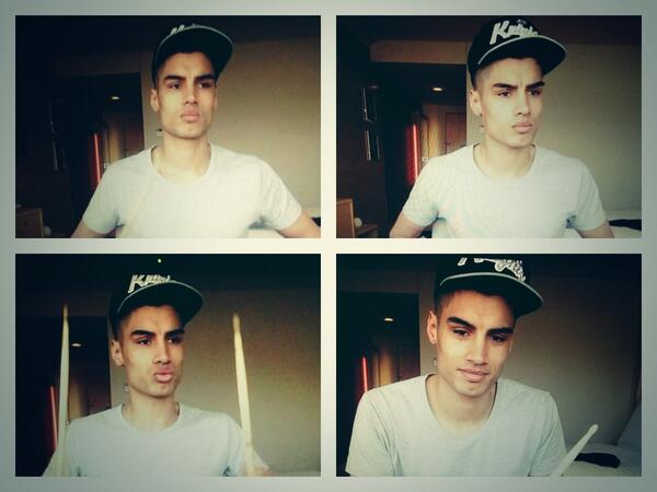 Siva trying to convince me that he now knows how to play the drums lol. Lil dweeb, gotta love him