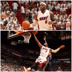 RT @SportsCenter: Heat beat Bobcats in Game 1, 99-88. LeBron James drops 27 Pts, 9 Reb, Dwyane Wade gets 23 Pts, 5 Ast. http://t.co/58JawkpGmv