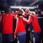The @WashWizards taking the court before game 1 #wizbulls. #dcRising http://t.co/aFo9d4lLny