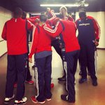 RT @WashWizards: Wizards huddle before taking the court for Game 1 of #WizBulls #dcRising http://t.co/IoJXJxsTju
