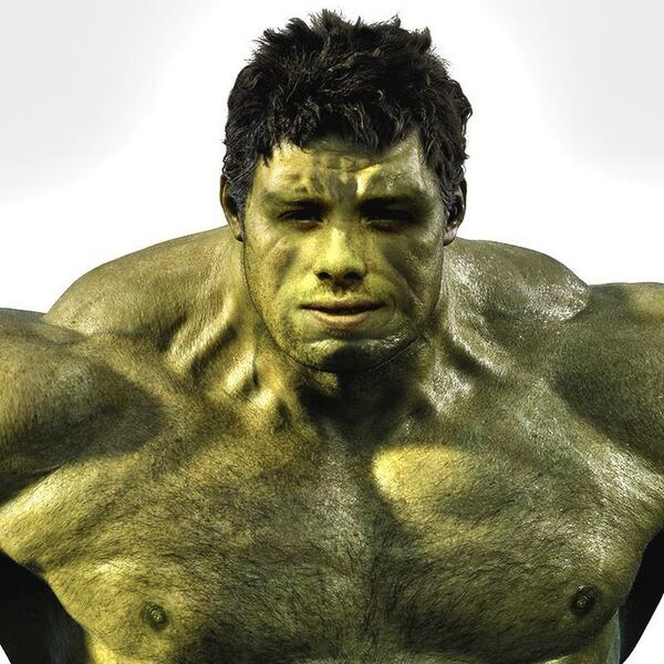 Next time I stay awake through an ep of Madmen this season will be the 1st time. So here's @kyleharty as The Hulk. http://t.co/O6s79KevOn