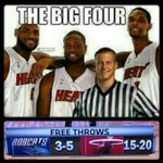RT @NBAMemes: The Miami Heats BIG 4! #NBAPlayoffs #Bobcats http://t.co/pai3u7h0kX
