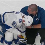 "Oh no! ""@NBCSports: @TBLightning star Steven Stamkos left the game after a knee to head. http://t.co/6wWycLi1Z2 http://t.co/qH2gCmjTMT"""