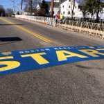 Congrats to all the participants taking off from Hopkinton this morning for the 118th Boston Marathon! #BostonLove http://t.co/DSny722vhE