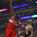 RT @SportsCenter: Wizards take Game 1 over Bulls, 102-93. Nene leads Washington with 24 Pts, 8 Reb, John Wall adds 16 Pts, 6 Ast http://t.co/w2X5wXqZfb