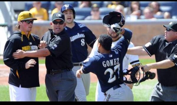 Innocent bystander Carlos Gomez http://t.co/1tJXahkfOF