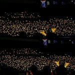 140420- Yellow ocean for LUHANs birthday at the Nanjing Best of Best Concert. http://t.co/buWlbj611N v:xoxoEXOina