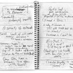 RT @austinkleon: Page from Matthew Weiner's notebook. http://t.co/PcpObD9EU4 (via @parisreview) #MadMen http://t.co/O4Bz589rDj