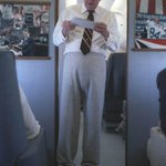 Ronald Reagan Wearing Sweatpants On Air Force One http://t.co/vZW2nU72cE