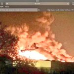 "Wow ""tradpac"" near armley jail burning up, while we were partying #iloveLs #lovingleeds http://t.co/Q4bREILQfj"