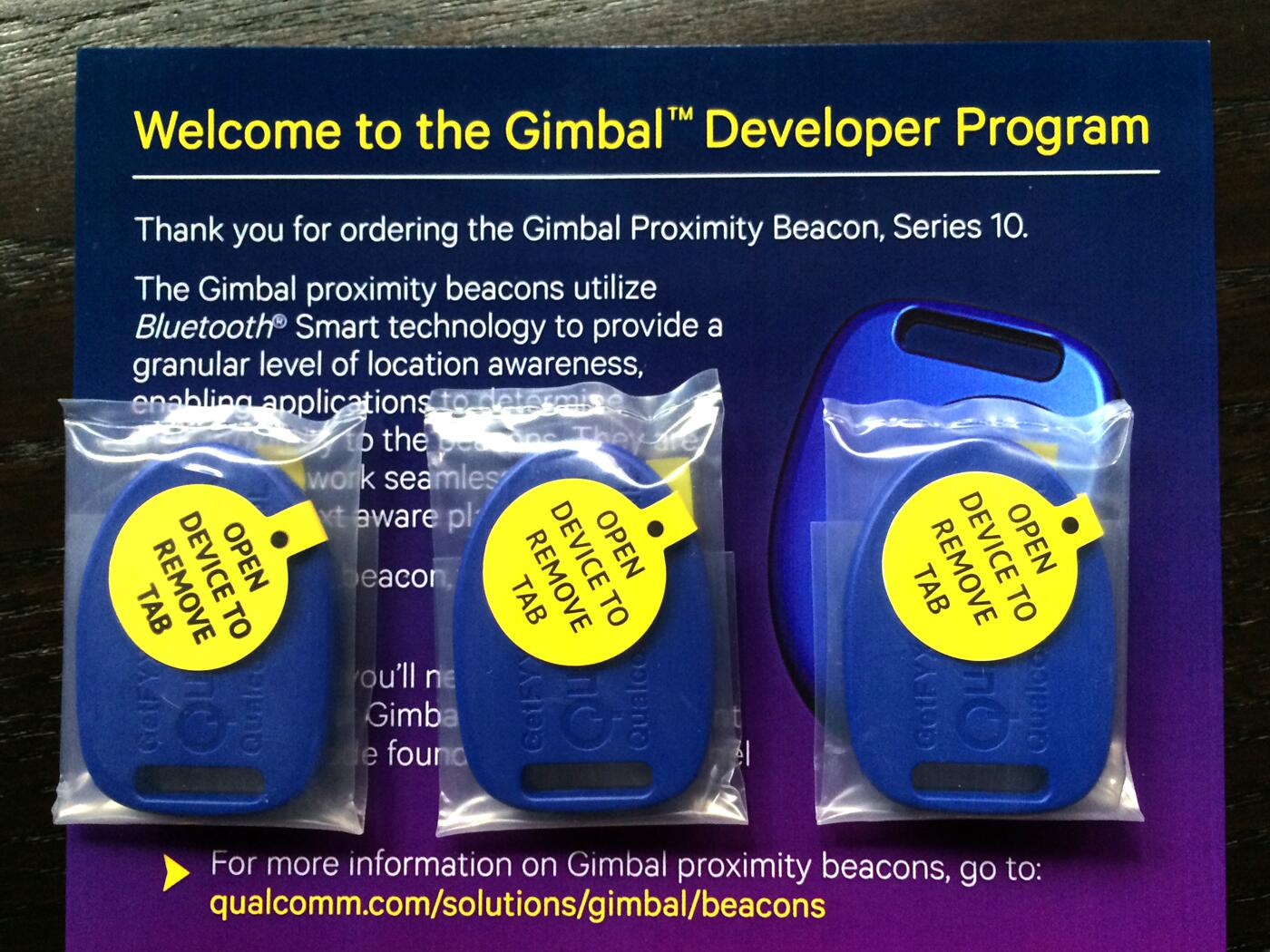 RT @BeaconSandwich: Thank you @Gimbal for the developer #iBeacon set! We look forward to explore the platform better. http://t.co/qckaOqNeOM