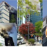#prayforsouthkorea #Samsung SDS Corporate Building yesterday http://t.co/FdlWB2Kcag