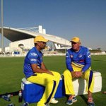 The @ChennaiIPL will take on @DelhiDaredevils tonight at 8 pm IST. Here are some pics #CSK #whistlepodu http://t.co/JPRczp4Emq