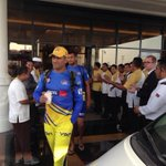 For all #CSK fans. @russcsk: Thala on our way to the ground #whistlepodu http://t.co/Eh99saGiM4