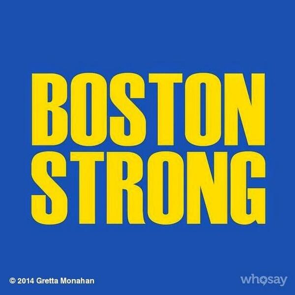 Good luck to all those participating in the #BostonMarathon today! #BostonStrong http://t.co/aDuUHe6x8o
