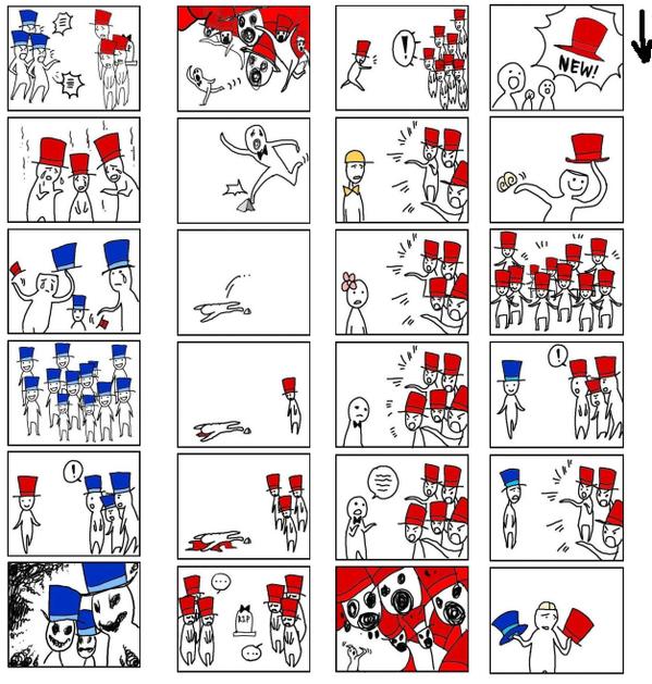 """كاريكاتير يعبر عن المجتمع الياباني.. وأظن التشبيه ينطبق على مجتمعاتنا. """"QT @www_impact @Mydxb アメリカ人が描いた「日本社会」の図  http://t.co/YBJZbAykYF"""""""""""