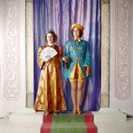 RT @HistoryNeedsYou: Princess Elizabeth as Aladdin, with Princess Margaret in 1943. A most surprising photo of The Queen! #Queen88 http://t.co/LZOvTlXtTg