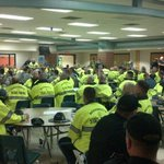 #BostonMarathon The troops gathering for roll call at Hopkinton HS ^dp ^dp http://t.co/w2Q5oBK5CF