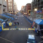Pretty morning for a jog. Quiet buzzing at the finish line at 6am. @BostonGlobe #BostonMarathon @BostonDotCom http://t.co/MT4aAWlUtH