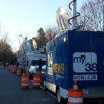 TV trucks in Hopkinton.#wbz http://t.co/UnWm48b7Ky