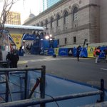 Final preparations are taking place at the #BostonMarathon finish line. No spectators allowed. #RunningAgain http://t.co/AVLGEIFp4X