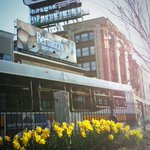 Flowers in bloom in the heart of Kenmore Square, to greet runners & fans. #LoveBoston http://t.co/INOVFVOSOB