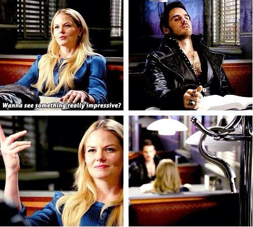 "The way Emma said ""BOOM!"" Flirty and giggling Emma. Love this scene!!! #CaptainSwan http://t.co/u8FOTULat9"