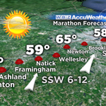 Great news Today whether you are running or spectating, near perfect weather. #BostonMarathon http://t.co/setPAtxIJ8