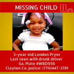 #BreakingNews: @ClaytonCountyPD searching for missing 3-year-old London Pryor http://t.co/IfbBPEOCzS http://t.co/iRvOgws6xq