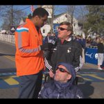 PHOTO: #BostonMarathon legends Dick and Rick Hoyt at the start line with our @STEVEBURTONWBZ. #wbz http://t.co/2gjAjft2wl