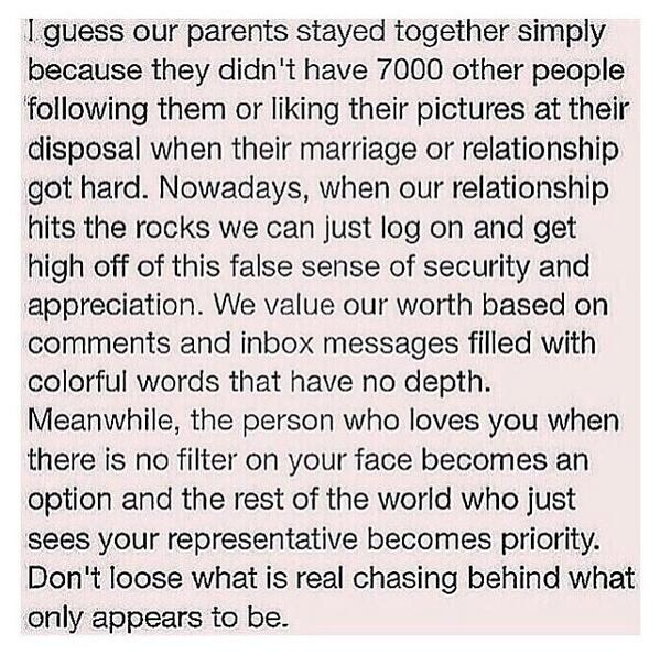 Social media is great.. But don't let it negatively effect you or your relationships.. This post is so real. http://t.co/DsfPuF78gh