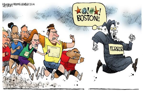 Holbert's cartoon April 21, 2014 #BostonStrong http://t.co/SpUybf53b3