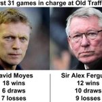 COMPARISON: David Moyes vs Sir Alex Ferguson - first 31 games in charge. http://t.co/gRnH0TmqUV