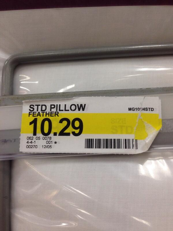 Not the best name for a pillow. #pillowprotip http://t.co/Yj4TUoKTrD