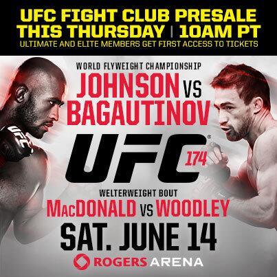 Don't forget! The Ult & Elite FC Presale for #UFC174 is THURSDAY! Codes at http://t.co/UtG1IGhyVH http://t.co/jM0Z4HfxQ6
