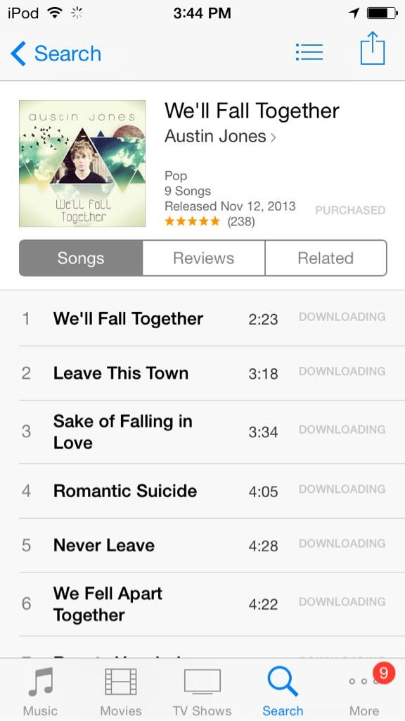 @IamAustinJones just picked up your album darlin. Happy Monday :) hugs :) http://t.co/e4AQtzLv0i