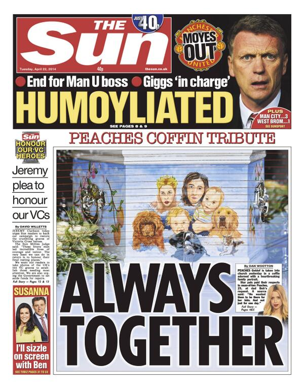 BlxmeOxCcAA JtU David Moyes to be sacked on Tuesday, £5m pay off, van Gaal next in line [All the back & front pages]