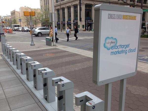 Very excited for @ExactTarget to help launch Indy Bike Share tomorrow. Big step forward for Indy! http://t.co/NsEBTm8cFB