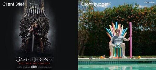 Client brief, client budget http://t.co/1QtvmuRwlL