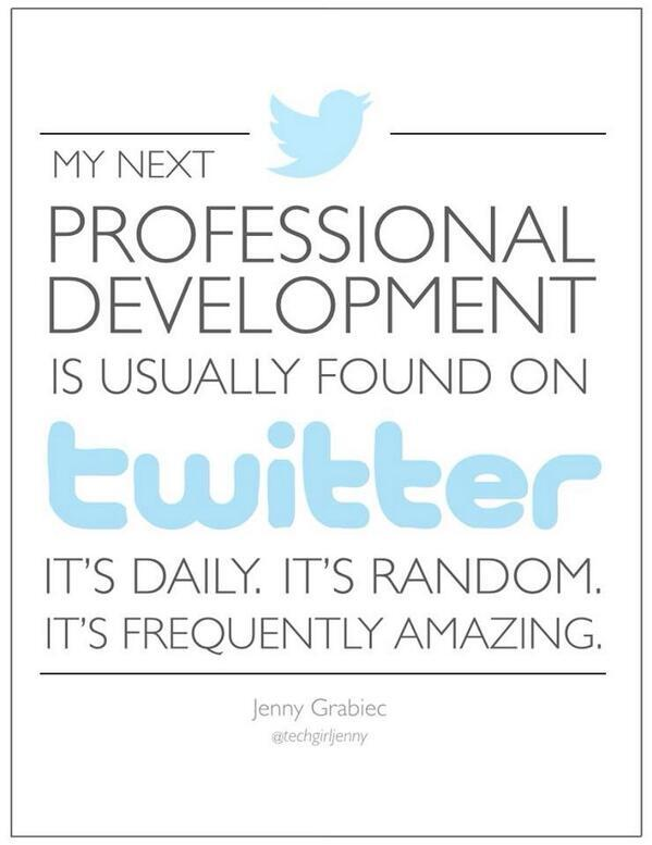 My next PD is TWITTER.... #edtechchat http://t.co/EF7iIREQyC