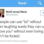 Mufti Menk dropping his realness upon us. http://t.co/tKPYtHQhOC