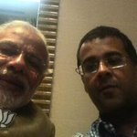 Dear @chetan_bhagat, many many happy returns of the day! Sharing the selfie you took last evening http://t.co/JEhky8lOWJ