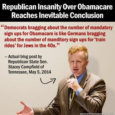 @GOP denials of how successful #Obamacare has become has led some to go seriously crazy. #UniteBlue #p2 #libcrib http://t.co/xxauzb2l5P