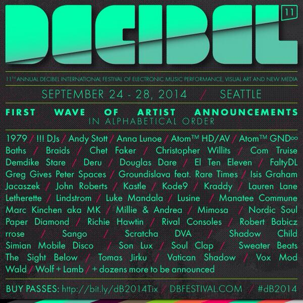 We just announced the 1st wave of artists performing at #dB2014! Buy your pass now! → http://t.co/0CYjTxur8R http://t.co/yyoFFTc1NN
