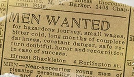 Shackleton's original ad, to which there were 28 replies (h/t John Lanchester) http://t.co/maJMuAeCkt