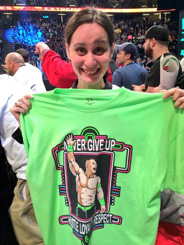 .@JohnCena gave his shirt to Team New Jersey bowling athlete Heather! Thank you for a wonderful experience @WWE! http://t.co/WRprPnlpiz